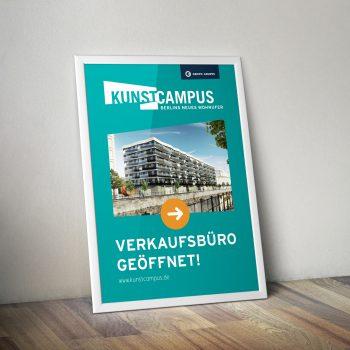Kunstcampus Heidestraße Banner Immobilienmarketing Berlin - ZENKER DESIGN