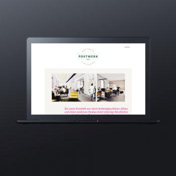 Postwerk Tegel Webseite Immobilienmarketing Berlin - ZENKER DESIGN