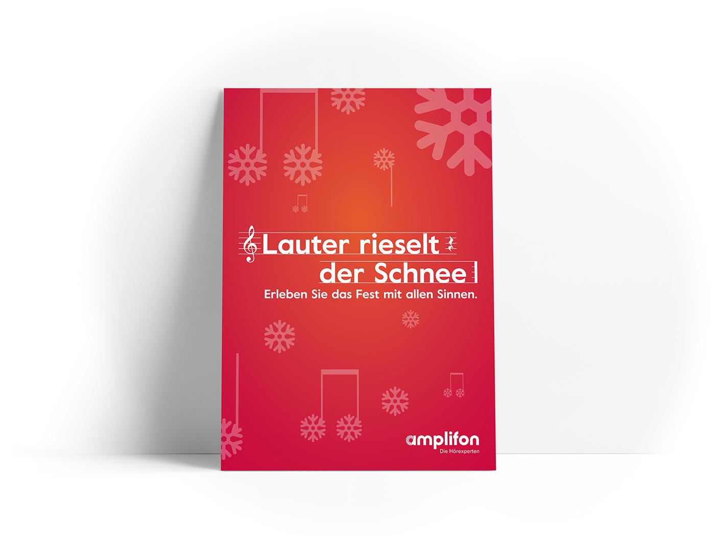 amplifon Weihnachtskampagne 2017 - ZENKER DESIGN