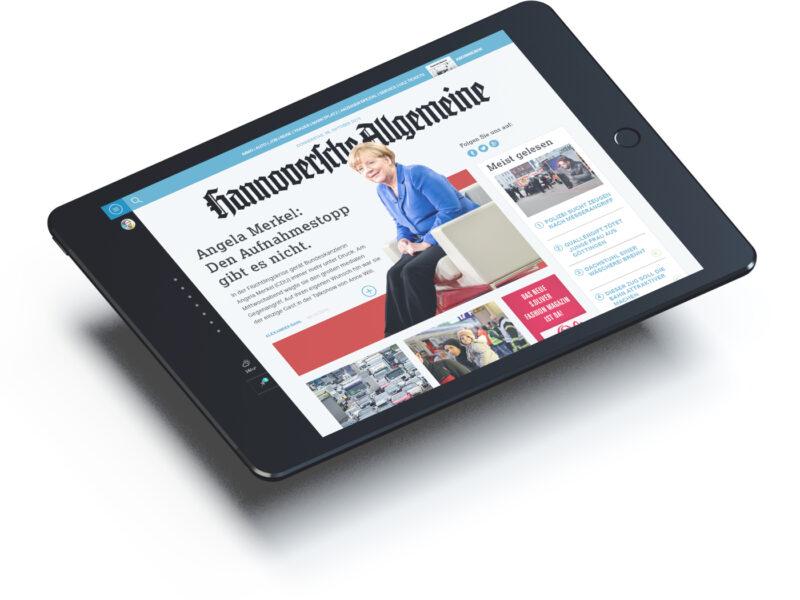 Hannoversche Allgemeine Zeitung haz.de redesign ipad entwurf konzept screendesign - ZENKER DESIGN
