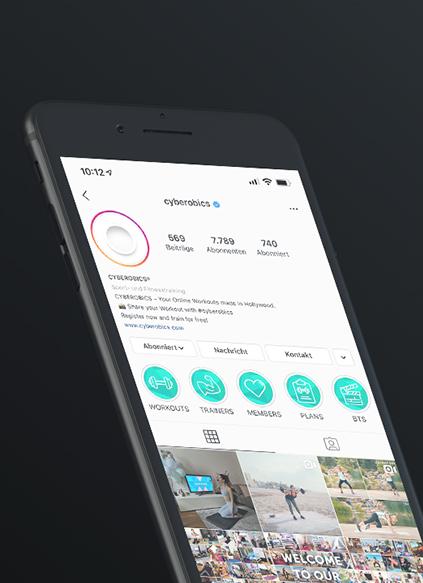 Cyberobics Instagram Content - ZENKER DESIGN