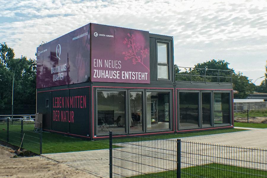 Groth Gruppe Vertrieb Container Forckenbeckstraße Maximilians Quartier Berlin - ZENKER DESIGN