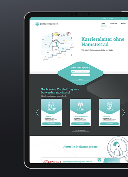 Schülerkarriere Webseite - ZENKER DESIGN