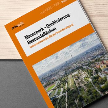 Grün Berlin Mauerpark Broschüre - Zenker Design