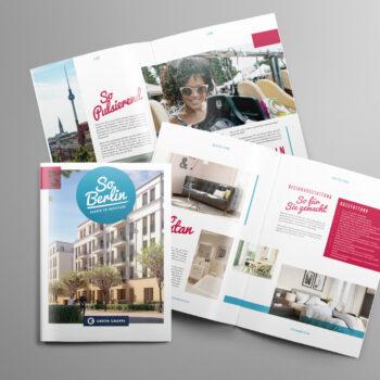 So Berlin Mauerpark Berlin Broschüre Immobilienmarketing - Zenker Design
